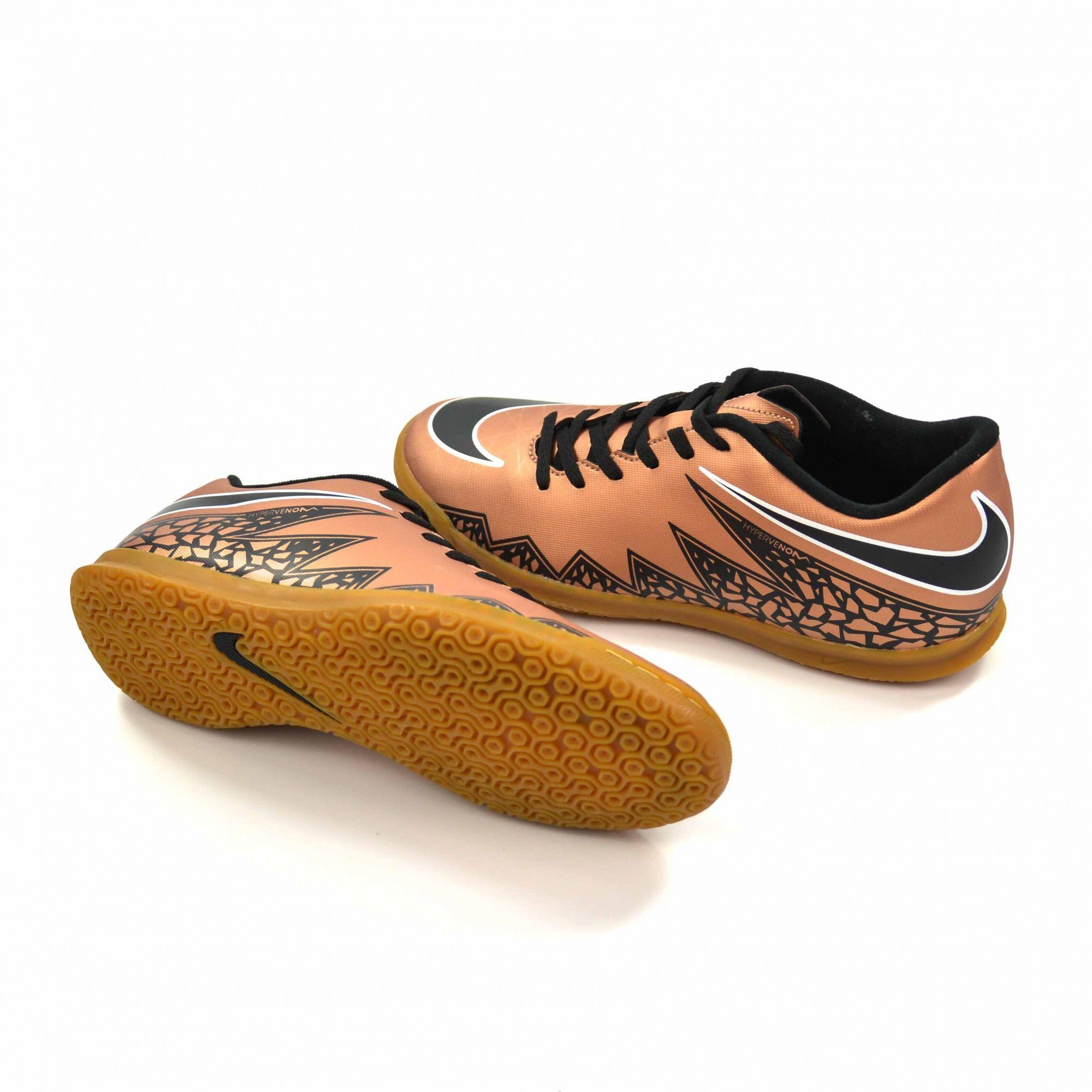 21d7bdda66ca7 Nike TÊNIS FUTSAL HYPERVENOM PHADE II IC GOLD NIKE 010964