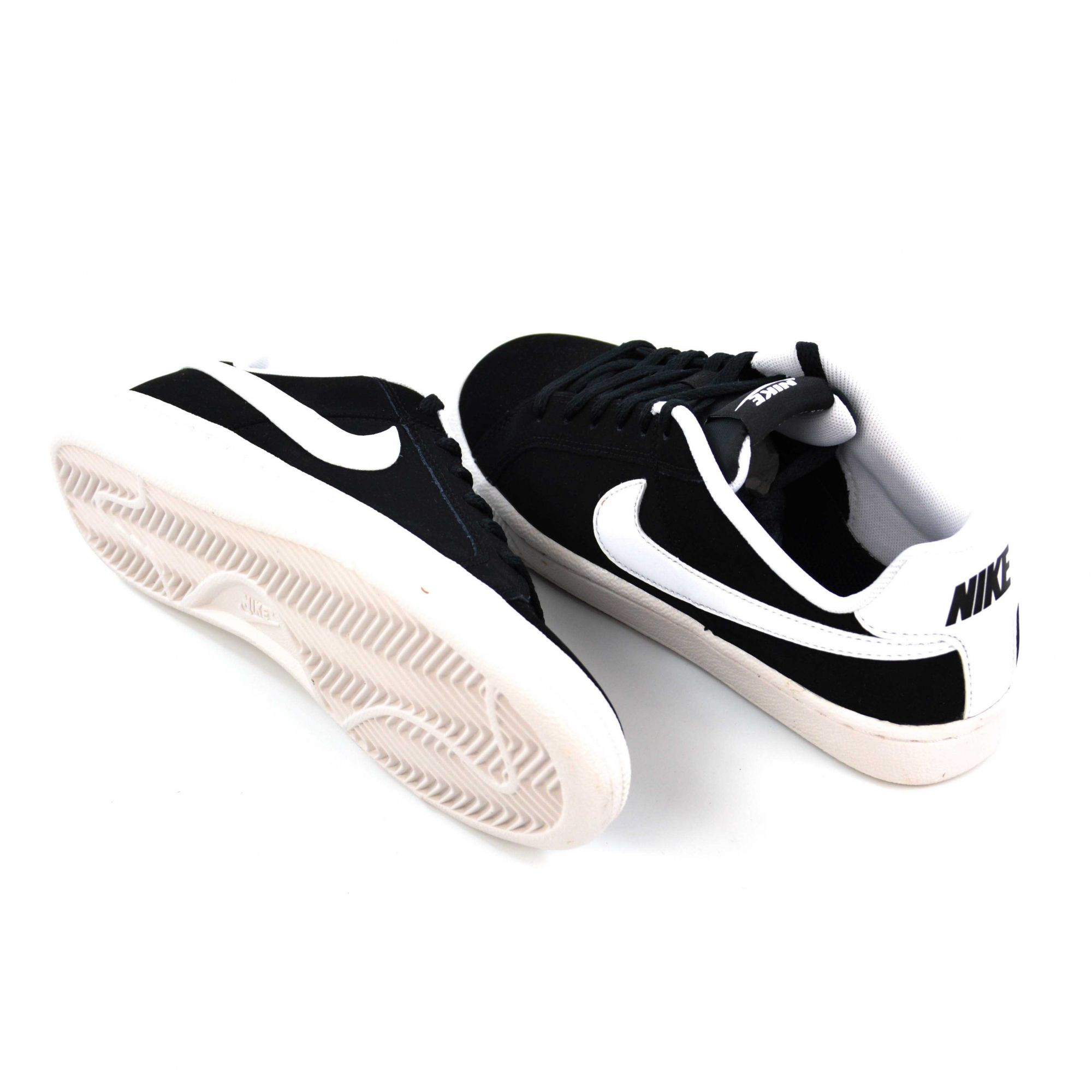 E> TENIS JUVENIL COURT ROYALE BLACK/WHITE NIKE 013537