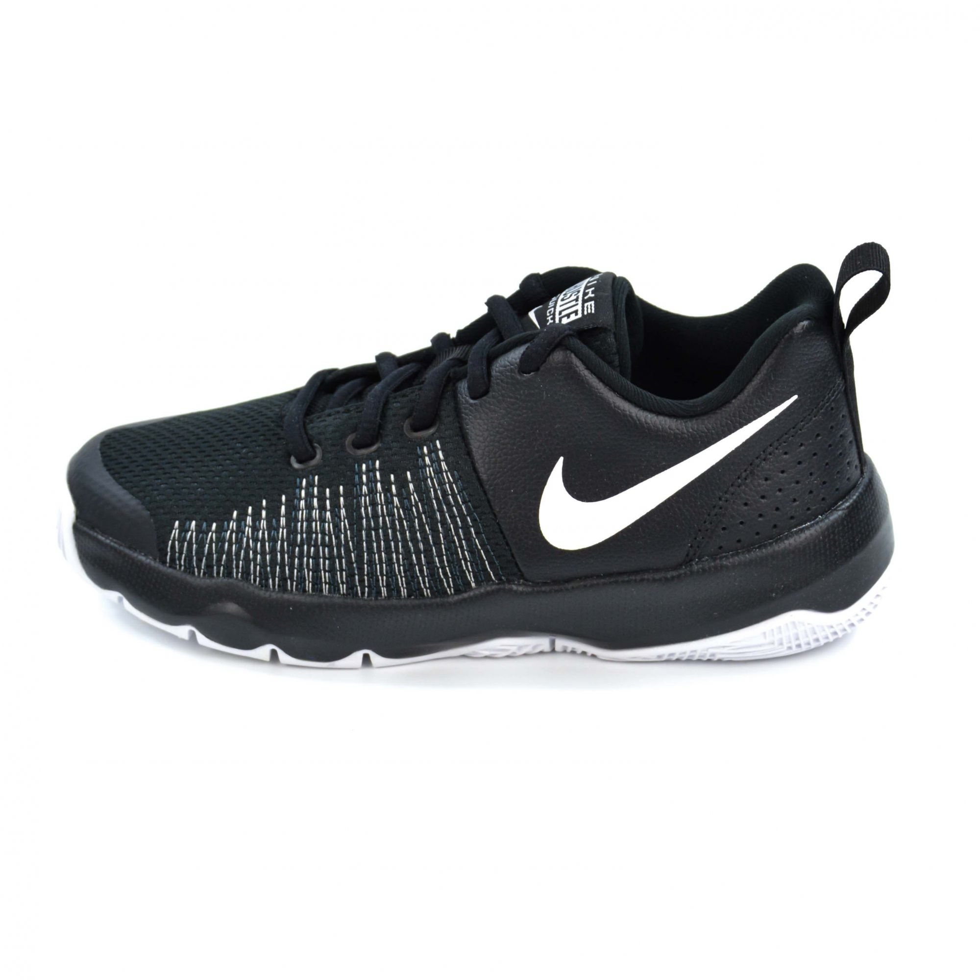 TÊNIS JUVENIL TEAM HUSTLE QUICK BLACK/WHITE NIKE 16342