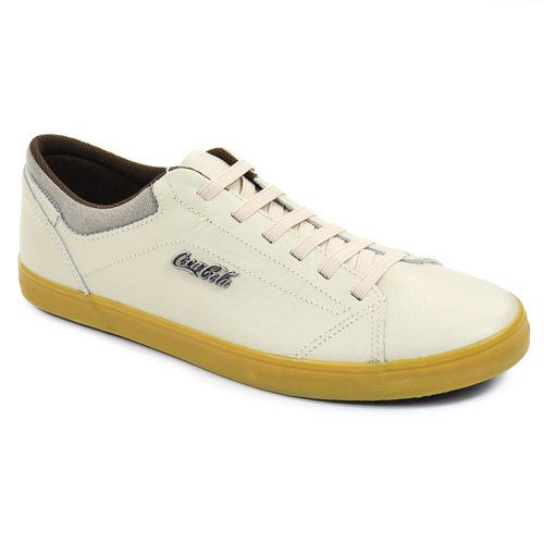 TENIS MASC CALLY OFF WHITE/NATURAL COURO COCA-COLA 89357