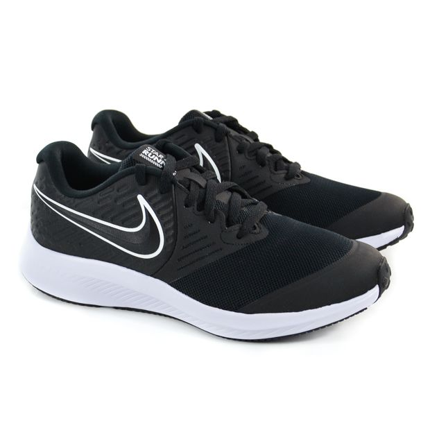TÊNIS STAR RUNNER 2 DO 34 AO 36 PRETO BRANCO NIKE 92492