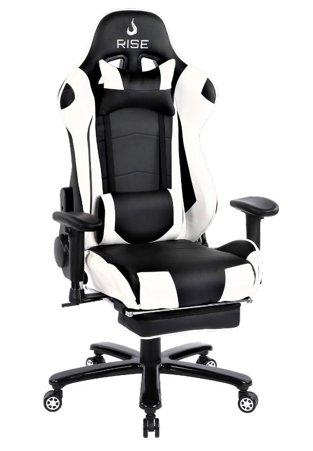 Cadeira Gamer Rise Mode A1 Preto e Branco Com Massageador  - Loja Rise Mode