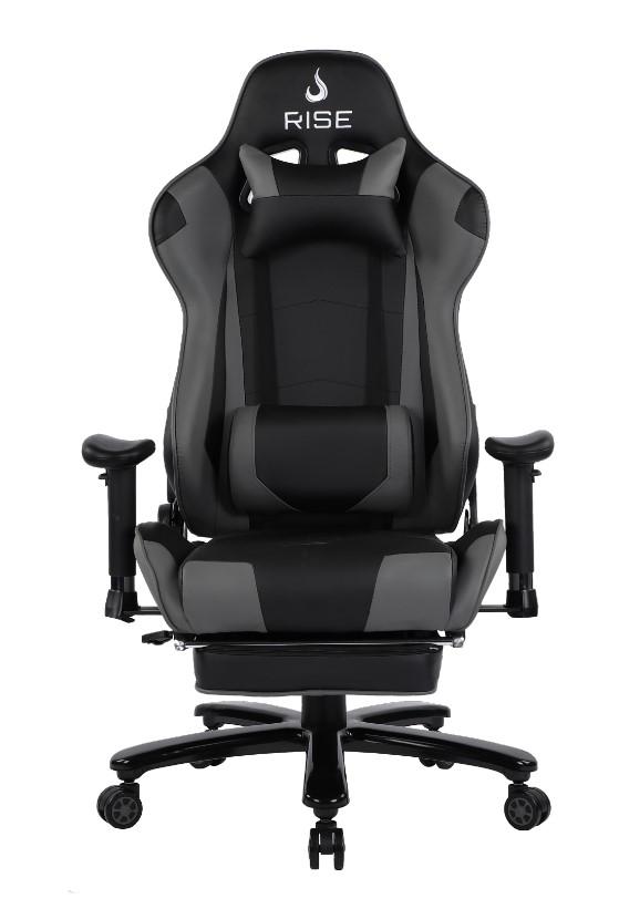 Cadeira Gamer Rise Mode A1 Preto e Cinza Com Massageador  - Loja Rise Mode