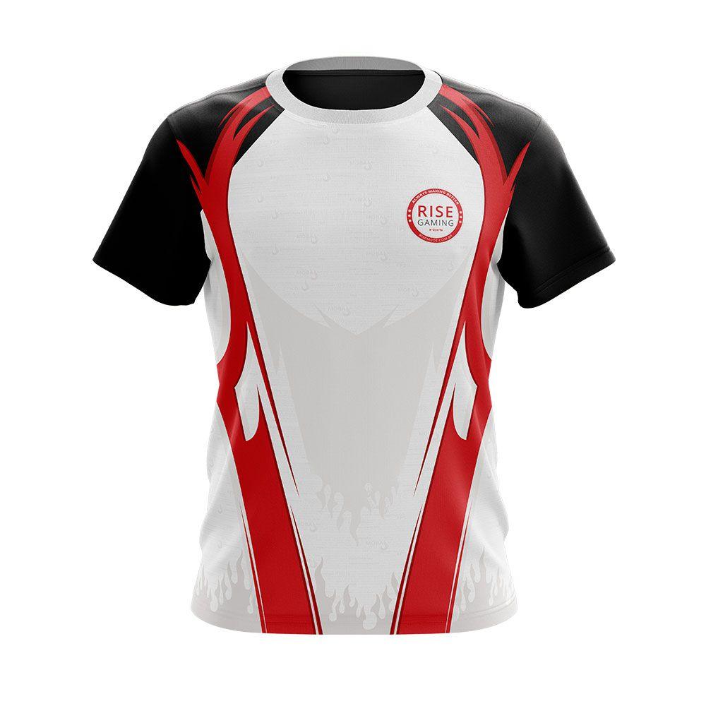 Camiseta Rise Gaming - Dryfit Rise Mode Vermelho  - Loja Rise Mode