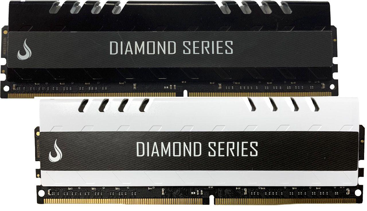Combo 2x Memoria Ram DDR4 4GB 3000MHZ Diamond - Preta /  Branca