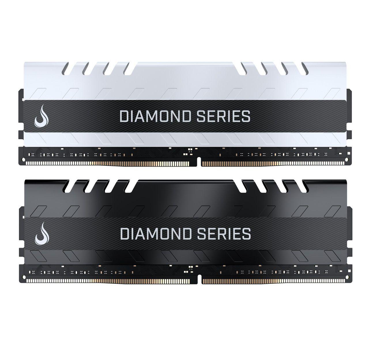 Combo 2x Memoria Ram DDR4 4GB 3000MHZ Diamond - Preta /  Branca  - Loja Rise Mode