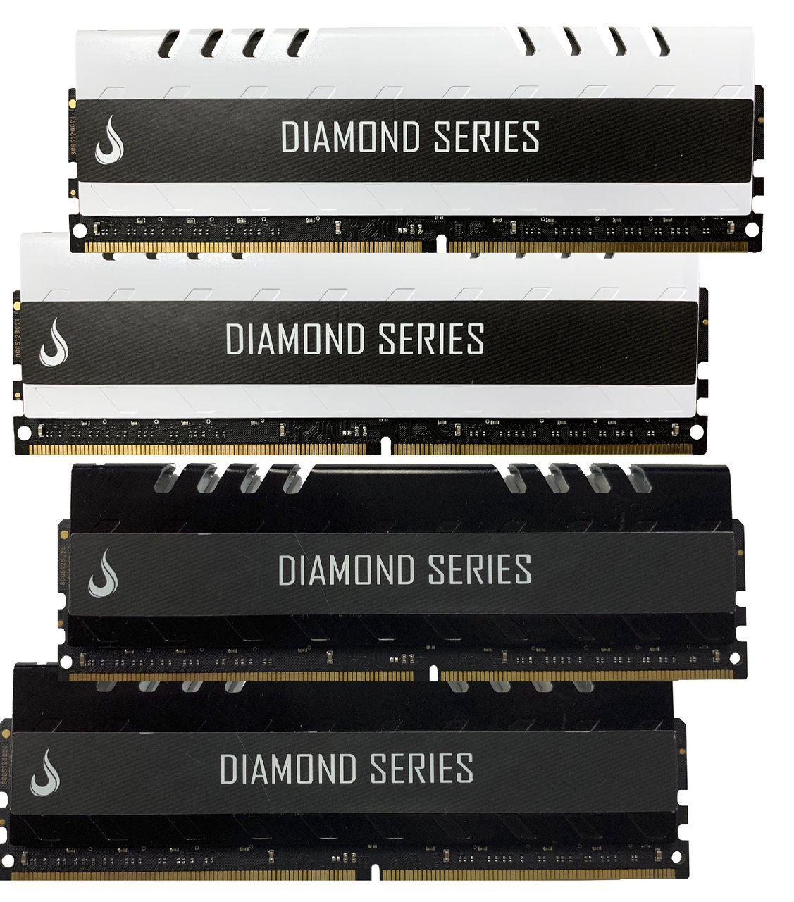 Combo 4x Memoria Ram DDR4 8GB 3000MHZ Diamond - Preta /  Branca  - Loja Rise Mode