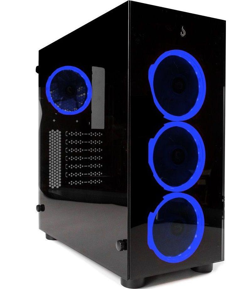 Gabinete Rise Mode Glass 01  -  Azul  - Loja Rise Mode