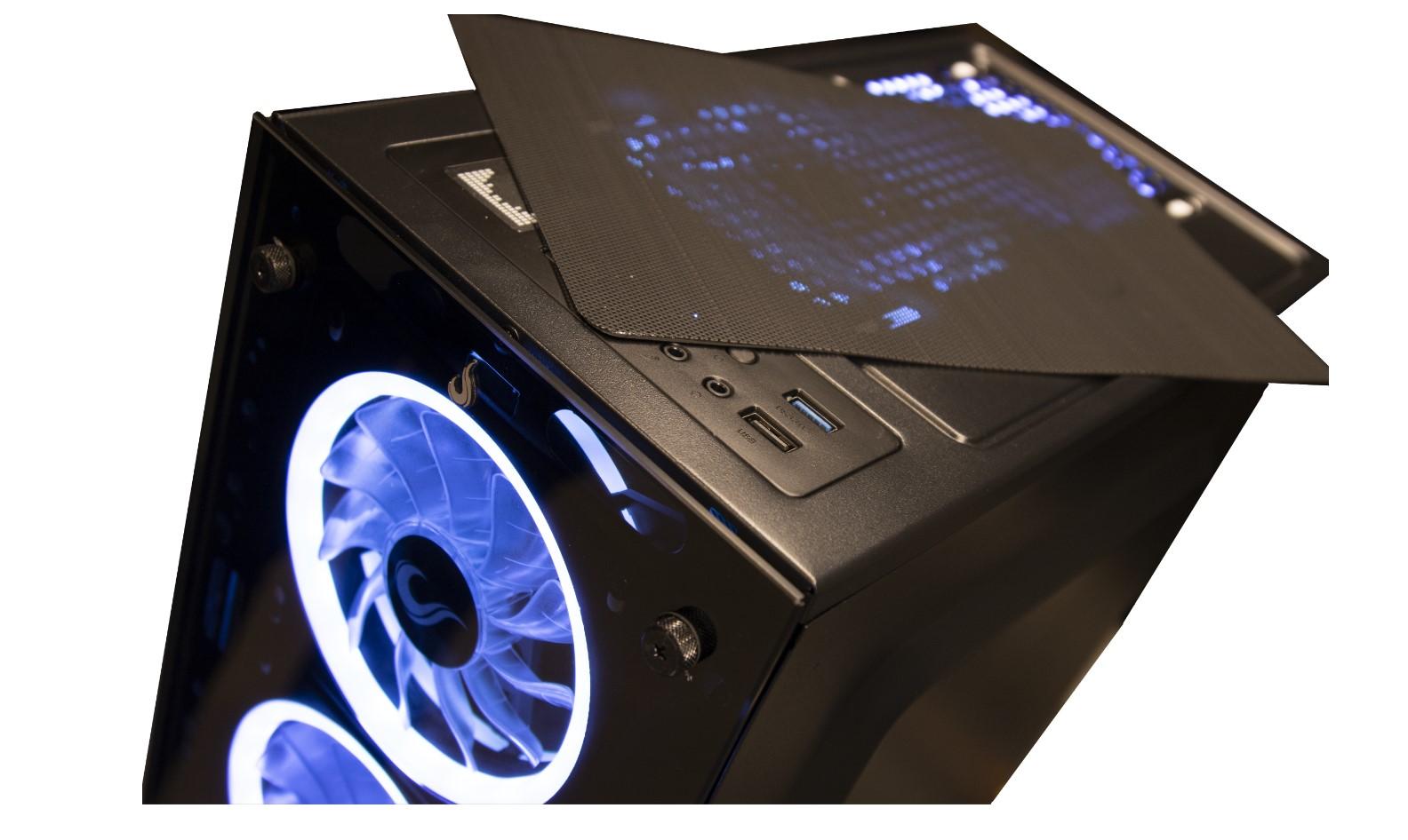 Gabinete Rise Mode Glass 06  Black 6 Fans RGB  - Loja Rise Mode