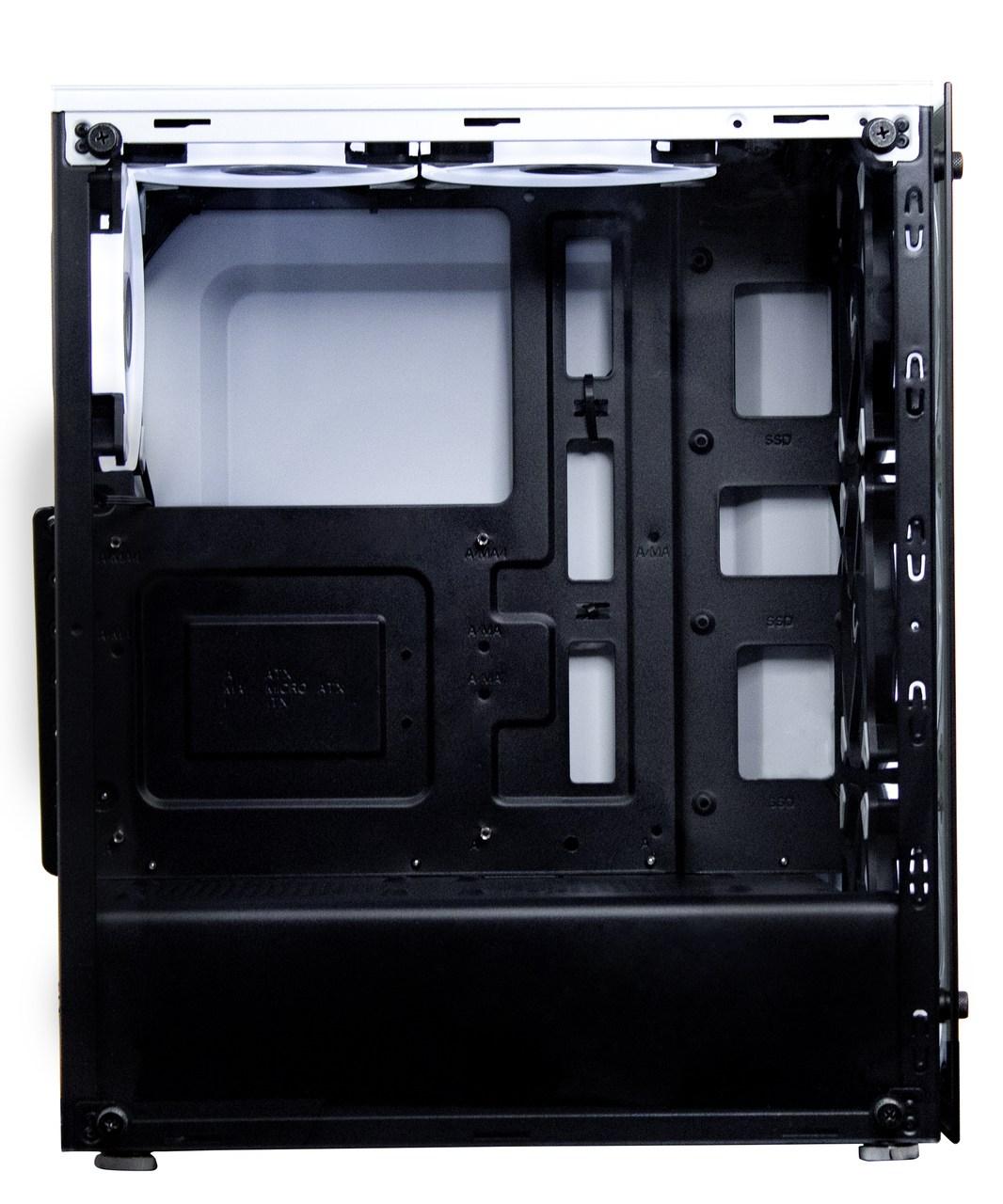 Gabinete Rise Mode Glass 06  White Sem Fans