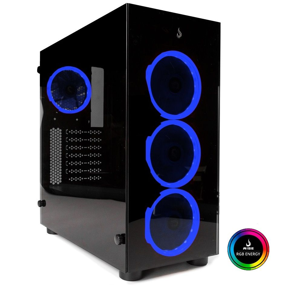 Gabinete Rise Mode Glass 01  - RGB  - Loja Rise Mode