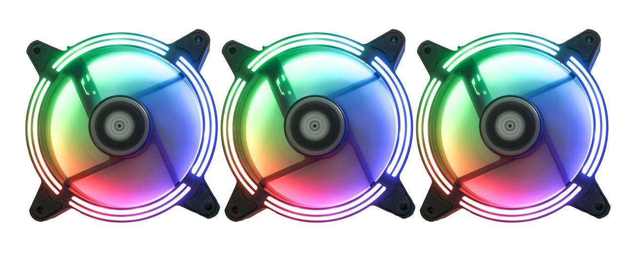 Kit Fan Gamer Rise Mode Tornado MB RGB led (5 Fans)  - Loja Rise Mode