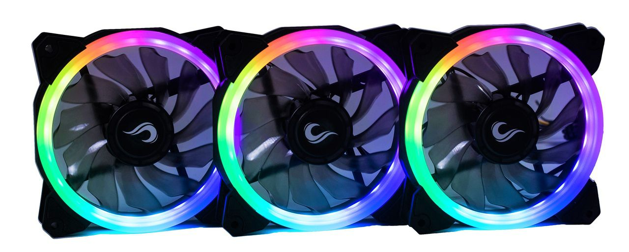 Kit Fan Gamer Rise Mode RGB Energy Smart (3 Fans)  - Loja Rise Mode