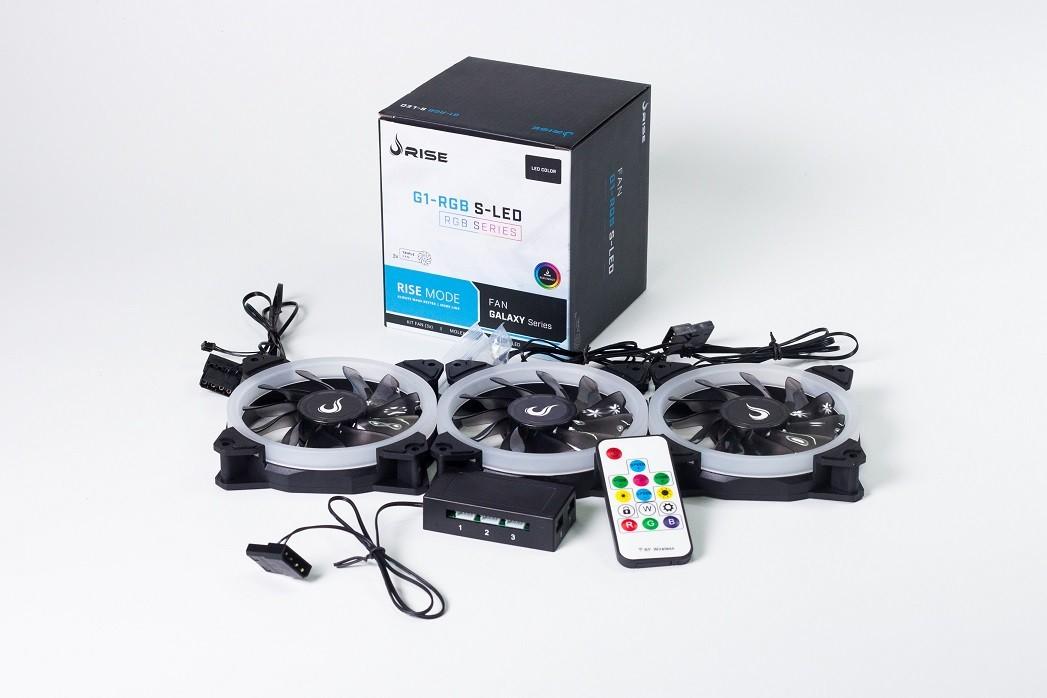 Kit Fan Rise Mode RGB Energy Smart (3 Fans)