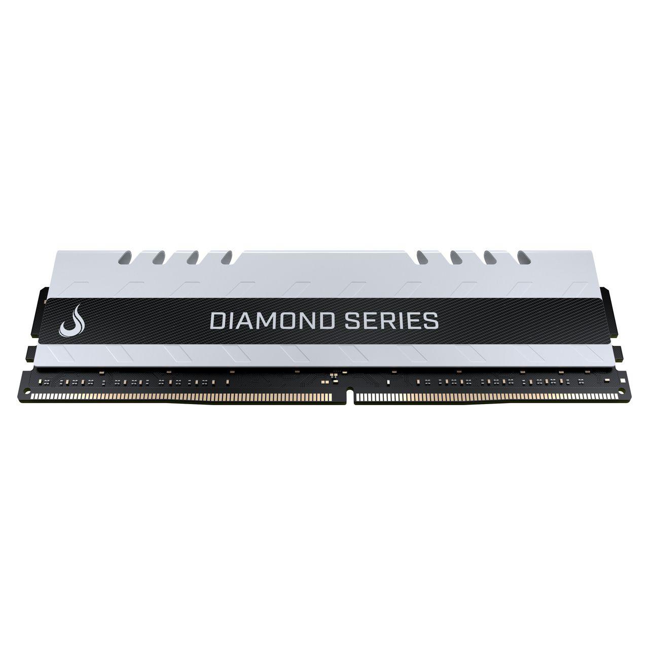 Memoria Ram DDR4 16GB 3000MHZ Diamond - RM-D4-16G-3000D WHITE  - Loja Rise Mode