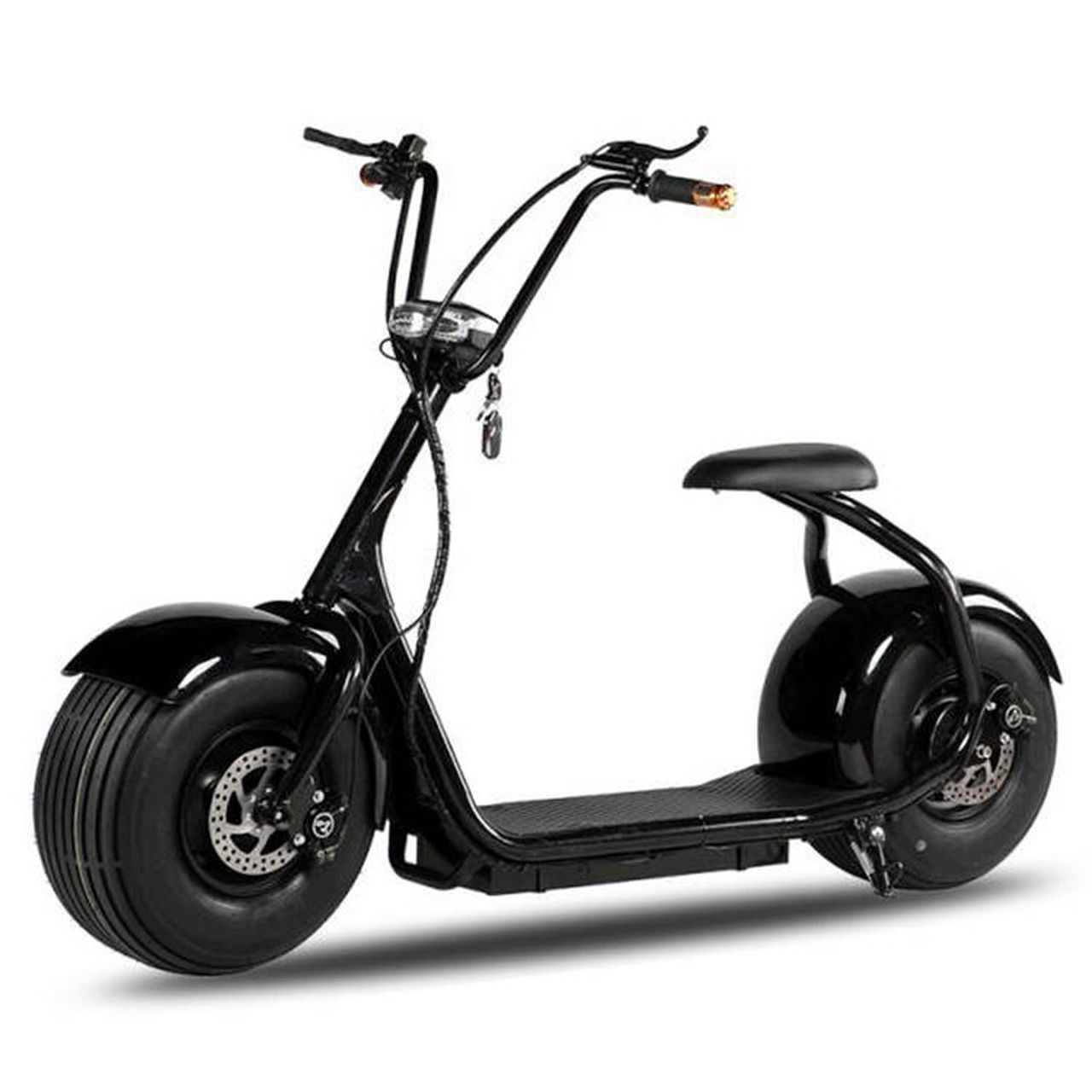 Moto Scooter Elétrica Eco Rise 2000w Black / White