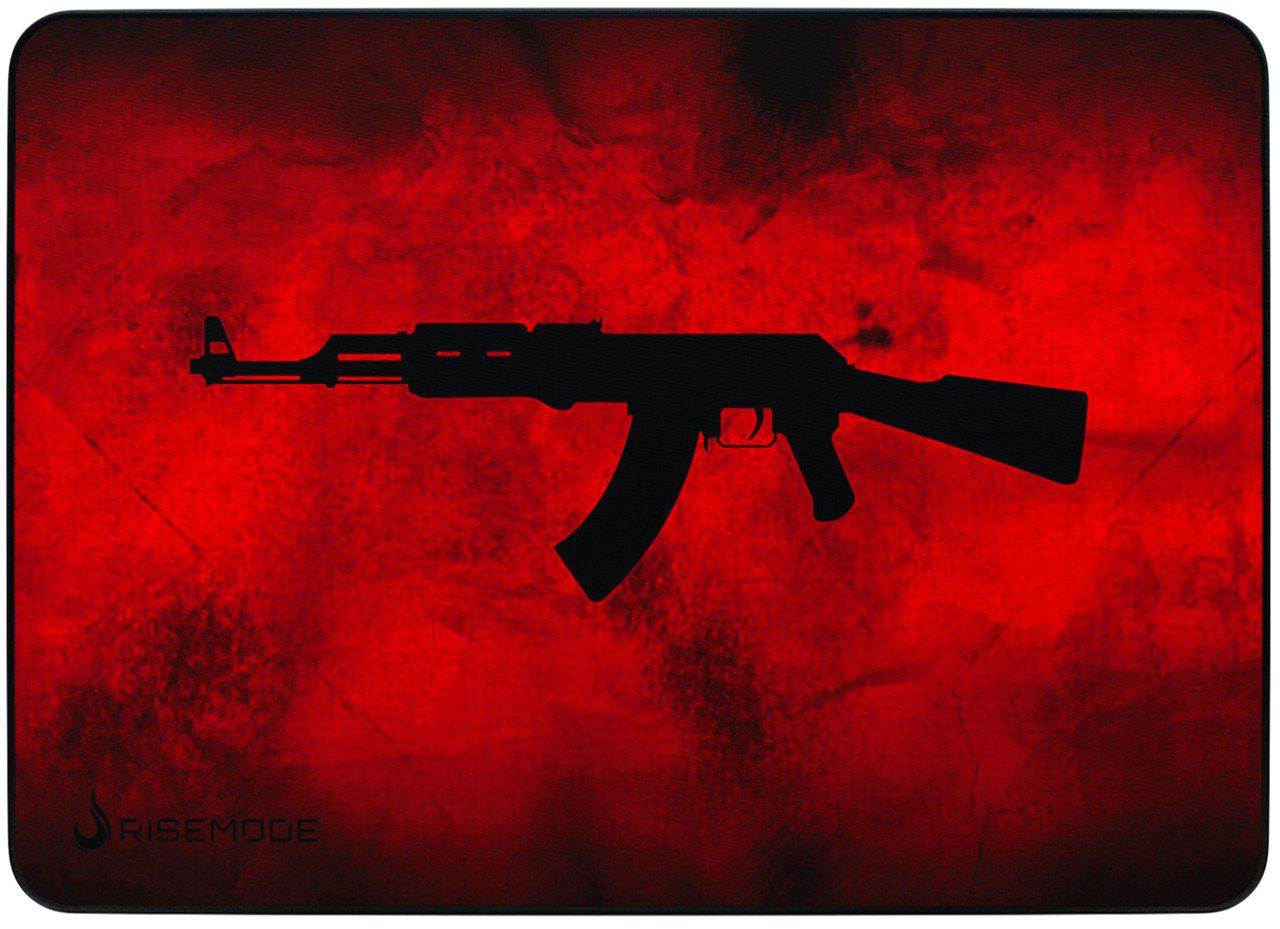 Mousepad Gamer Rise Mode AK47 RED  - Loja Rise Mode