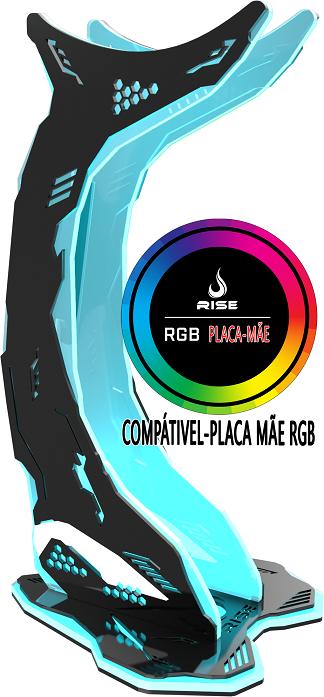Suporte Headset Rise Mode Gamer Venon RGB-PM  - Loja Rise Mode