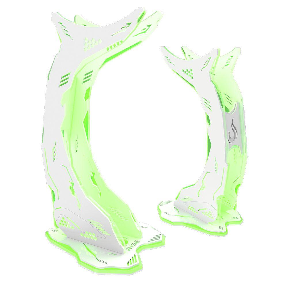 Suporte Headset Rise Mode Venon RGB - Branco