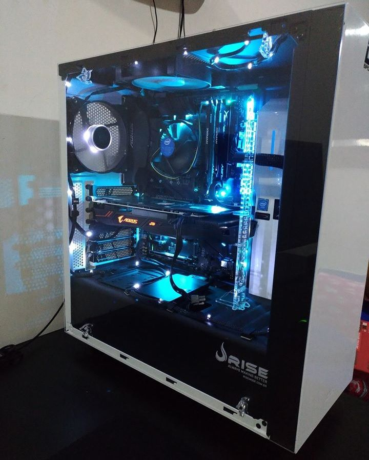 Suporte Placa de Video Rise Mode Aqua - Transparente