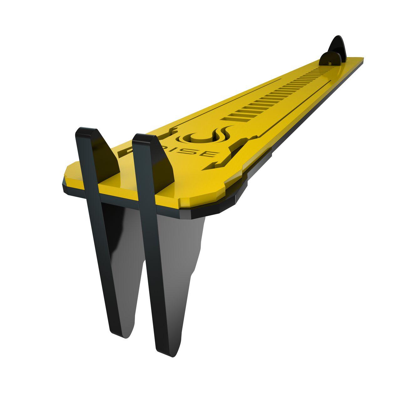 Suporte Placa de Video Rise Mode LV2 - Preto e Amarelo  - Loja Rise Mode