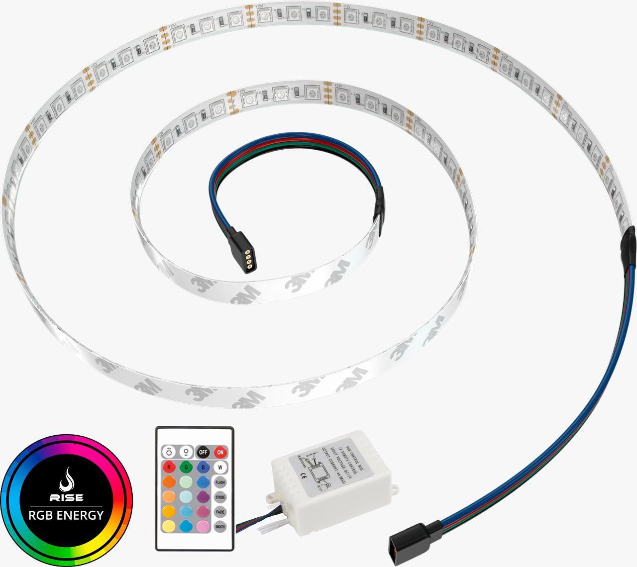Tira de LED para Gabinete Rise Mode - RGB 1,25m Sem Fio  - Loja Rise Mode