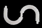Ligaduras estéticas de baixo atrito - Ligadura siliconada em S