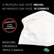 Máscara Cirúrgica Descartável Tripla BRANCA
