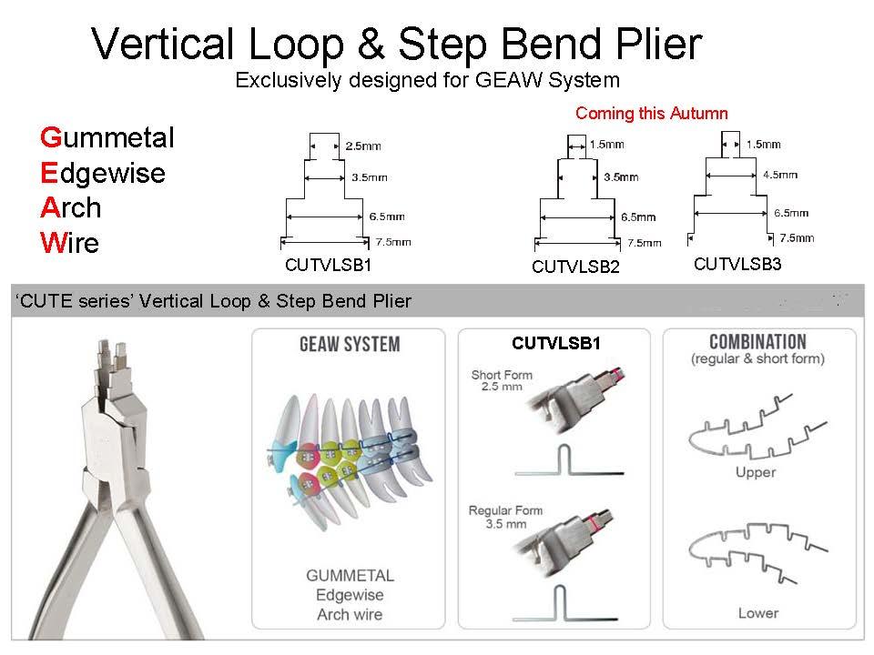 Alicate ortodôntico para dobras e alças em Gummetal GEAW  Plier  - N&F Ortho Dental
