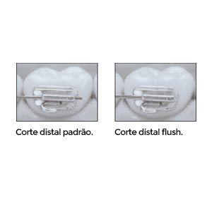 30-550FL - Alicate ortodôntico para corte distal com corte em flush (rente ao tubo) e cabo longo angulado  - N&F Ortho Dental