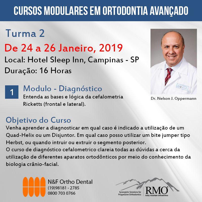 Cursos Modulares em Ortodontia Avançado - MÓDULO 1 - TURMA 2 - Dr. Nelson J. Oppermann  - N&F Ortho Dental