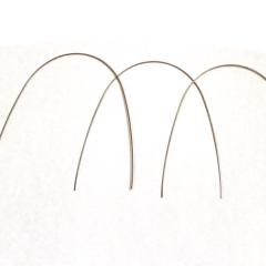 Blue Elgiloy - Arcos básicos pré contornados sem tratamento térmico (pacote com 10 arcos)  - N&F Ortho Dental