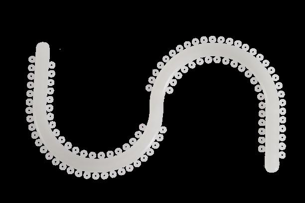 Ligaduras estéticas de baixo atrito - Ligadura siliconada em S  - N&F Ortho Dental
