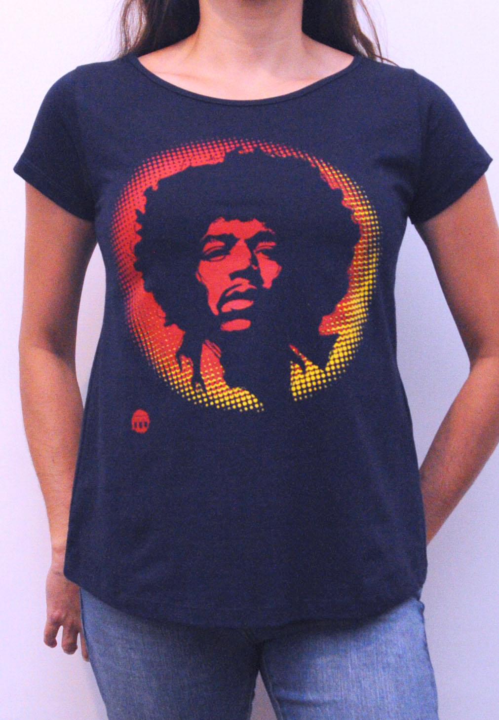 Camiseta Jimi Hendrix Feminina