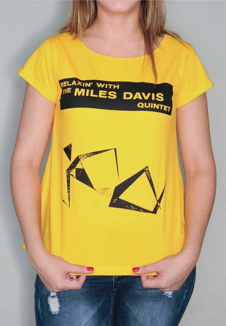 Camiseta Miles Davis Relaxin' Feminina