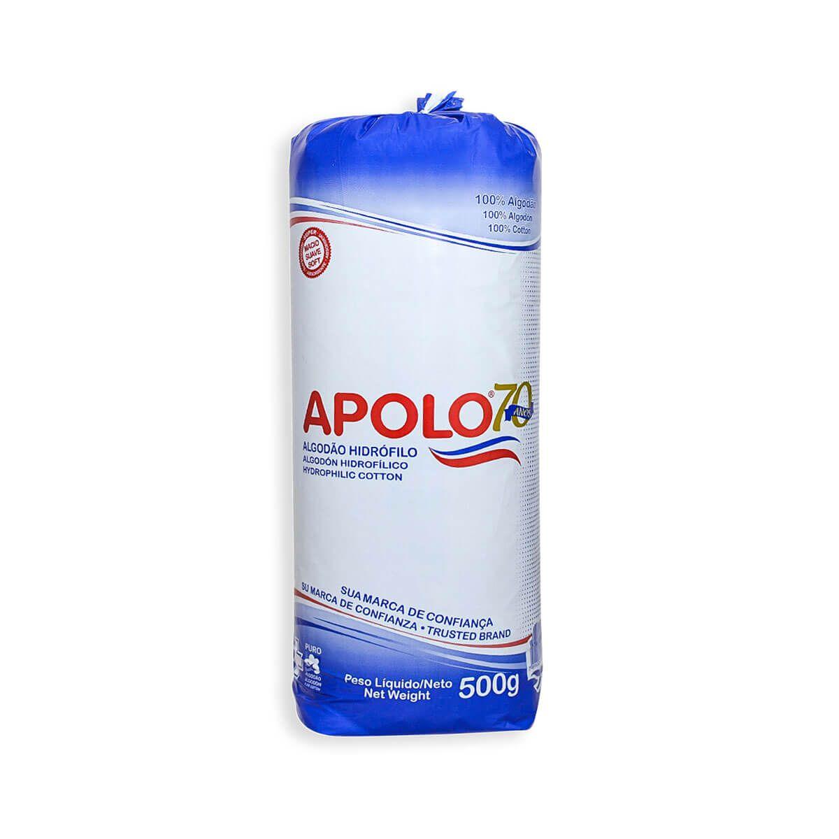 ALGODÃO HIDRÓFILO APOLO - 500G (NÃO ENVIAMOS ESSE PRODUTO PELOS CORREIOS)  - Misstética