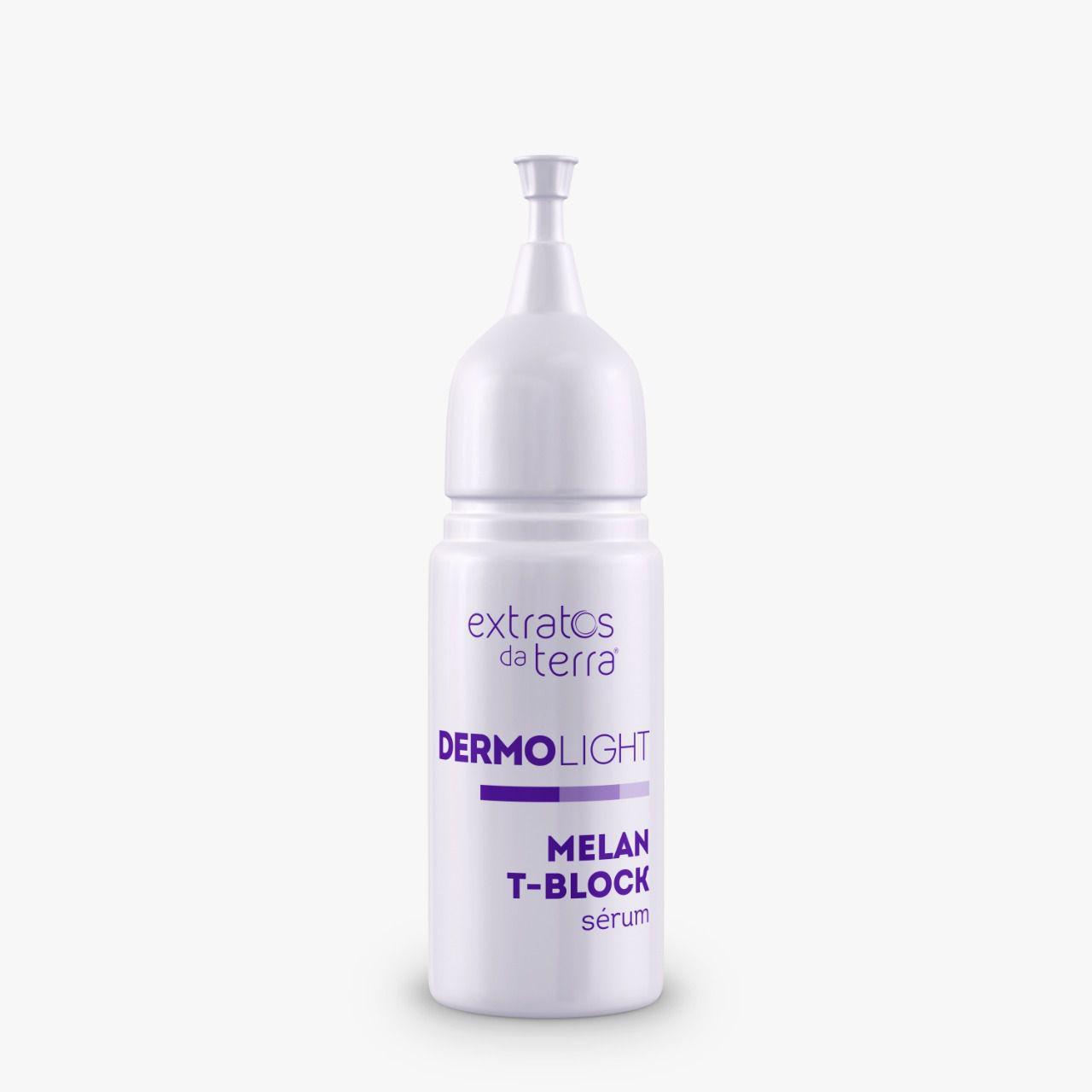 DERMOLIGHT AMPOLA MELAN T-BLOCK SÉRUM MICROAGULHAMENTO LINHA PROFISSIONAL 6ML (PROFISSIONAL TEM DESCONTO! ENTRAR EM CONTATO 85 985305205)  - Misstética