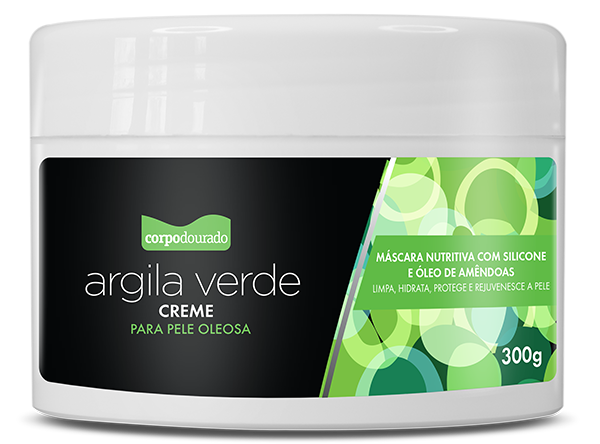 ARGILA VERDE 300G  - CORPO DOURADO  - Misstética