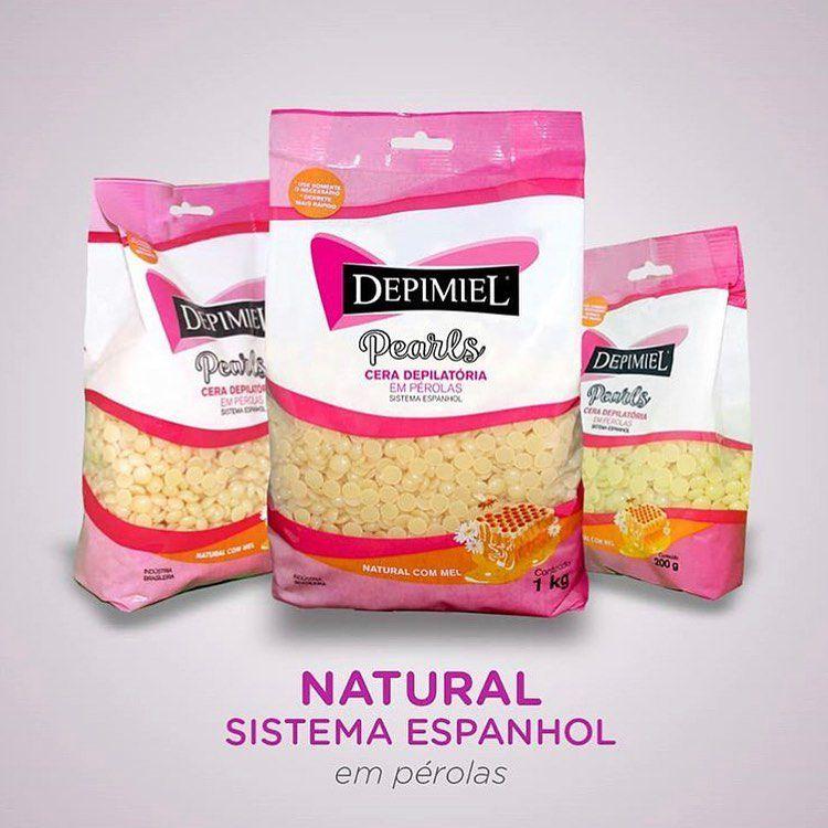 CERA DEPILATÓRIA EM PÉROLAS (NATURAL COM MEL) -  SISTEMA ESPANHOL - DEPIMIEL  - Misstética