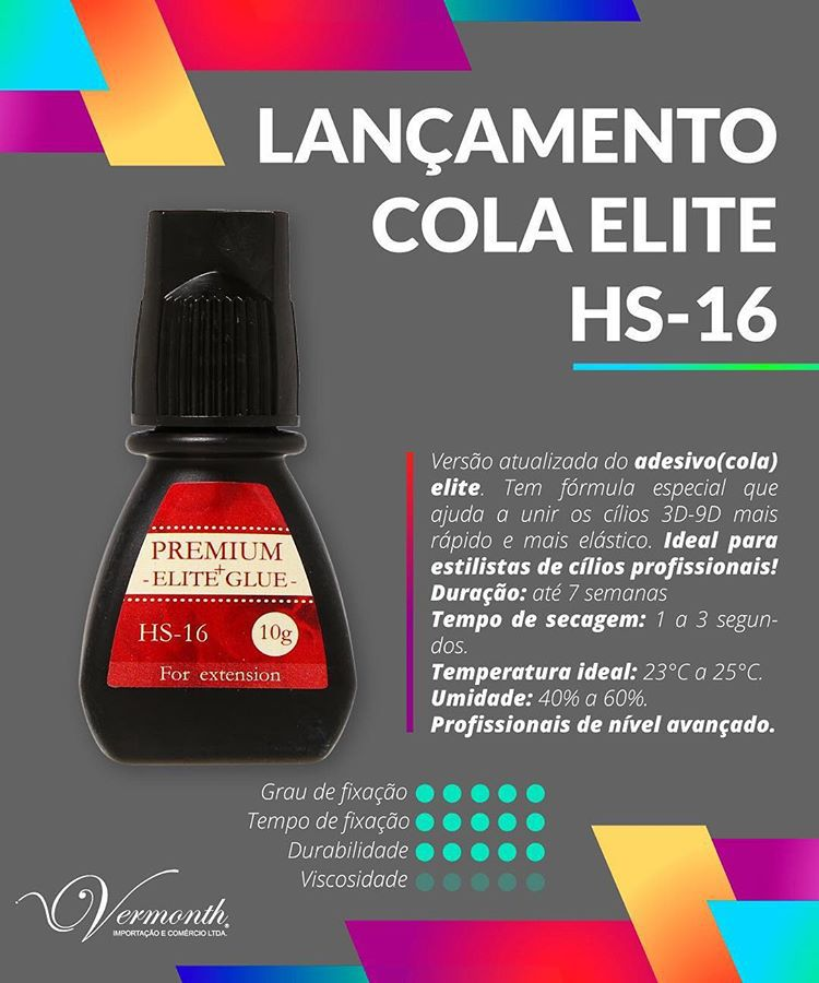 COLA ELITE GLUE PREMIUM HS-16 - 5ML  - Misstética