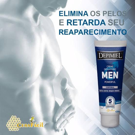 CREME DEPILATÓRIO MEN POWERFUL CORPORAL 120G  - Misstética