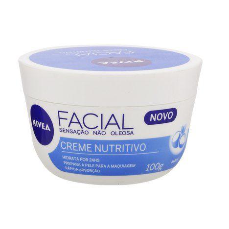 CREME NUTRITIVO FACIAL - NIVEA (100G)  - Misstética