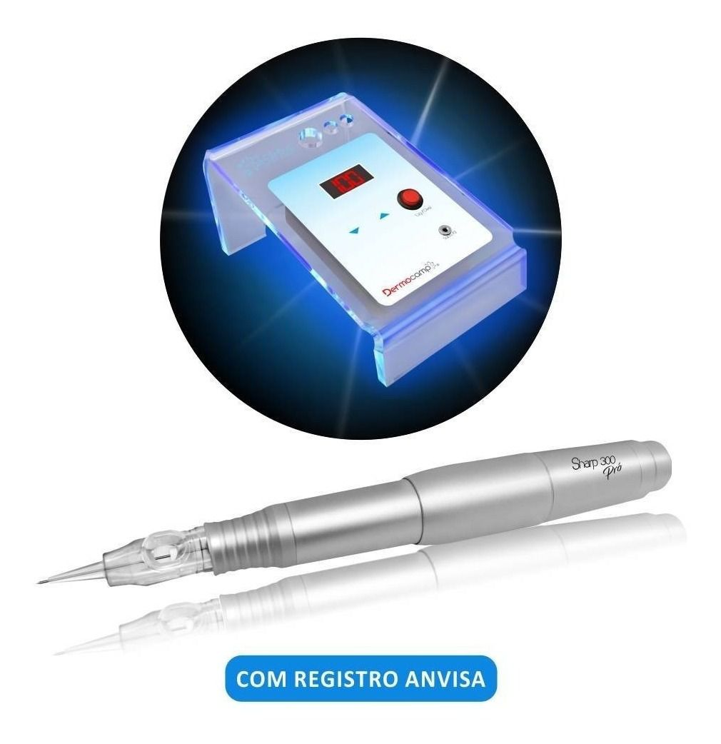 DERMÓGRAFO SHARP 300 PRO + CONTROLE DE VELOCIDADE DIGITAL SIRIUS  - Misstética