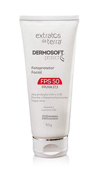 DERMOSOFT PROTECT FOTOPROTETOR FACIAL - FPS 50 LINHA HOME CARE - 50G  - Misstética