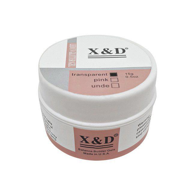 GEL LED UV  COM GLITTER - X&D (15G)  - Misstética