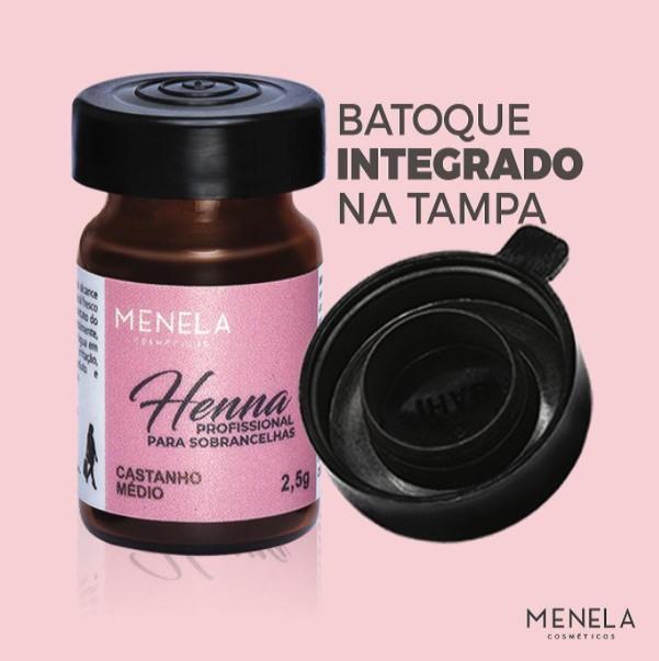 HENNA PARA SOBRANCELHA (2,5G) - CORES VARIADAS - MENELA  - Misstética