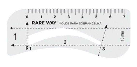 MOLDE PARA SOBRANCELHAS - RARE WAY   - Misstética