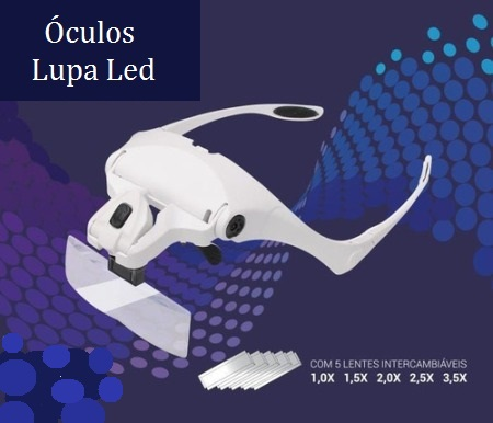 ÓCULOS LUPA COM LED  - Misstética