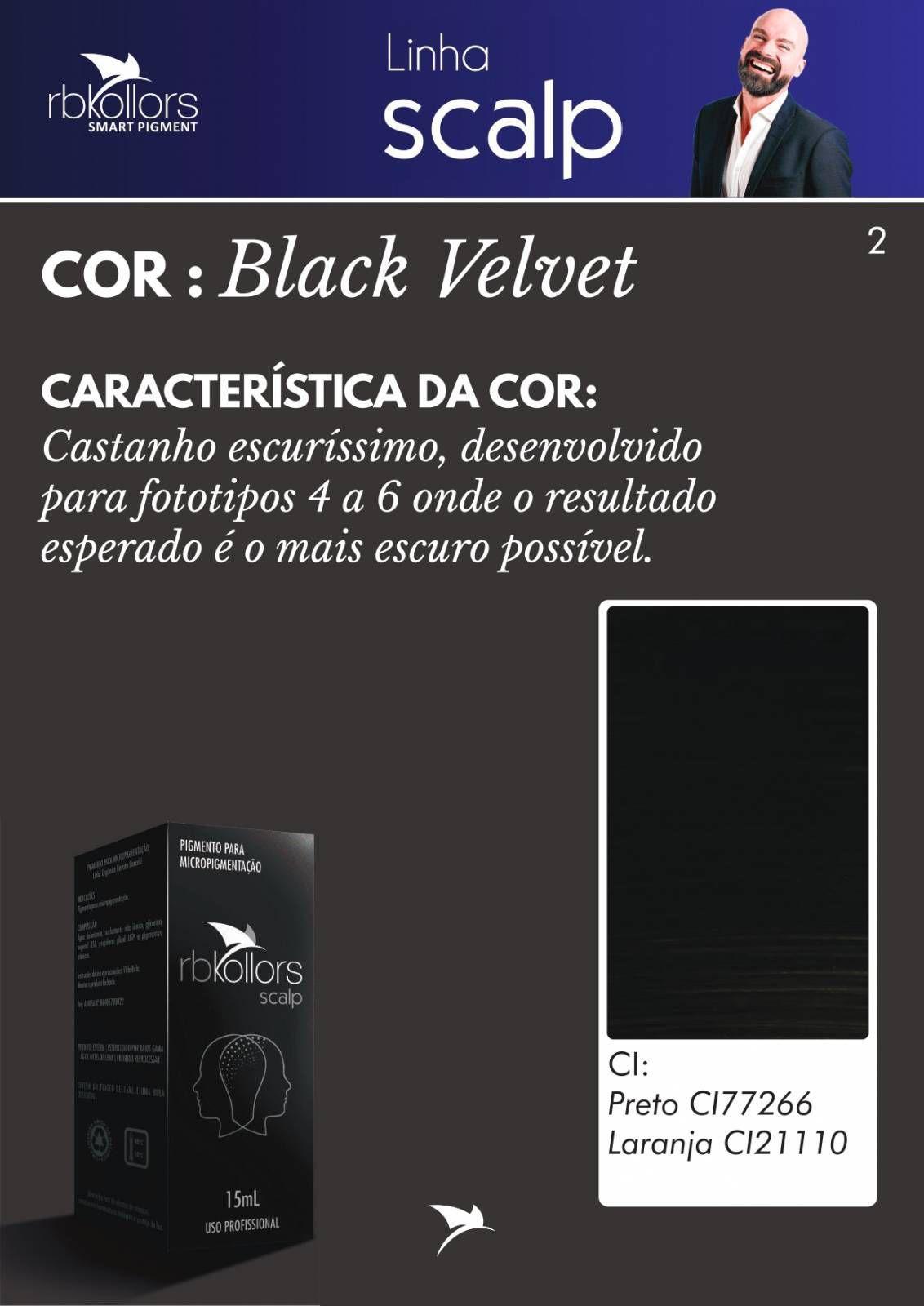 PIGMENTO RB KOLLORS - SCALP BLACK VELVET (15ML)  - Misstética