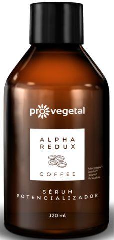 PRO VEGETAL ALPHA REDUX COFFEE SÉRUM POTENCIALIZADOR LINHA PROFISSIONAL 120 ML KIT LIPOFEME ANTIESTRIAS LINHA PROFISSION  - Misstética